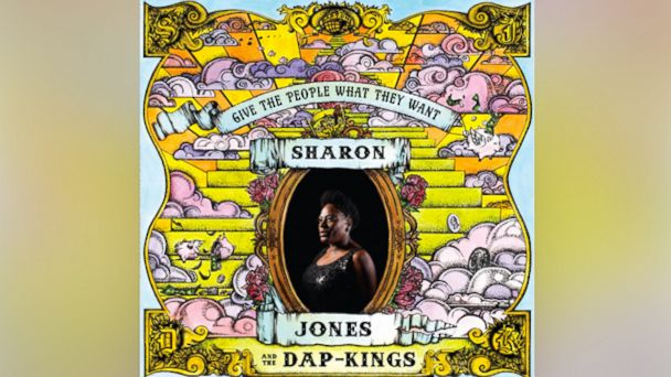 "Album art for Sharon Jones record ""Give the People What They Want."""