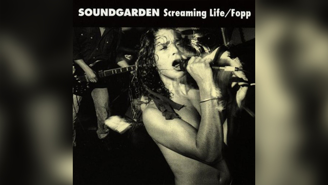 "PHOTO: Soundgarden's ""Screaming Life/Fopp"" album."