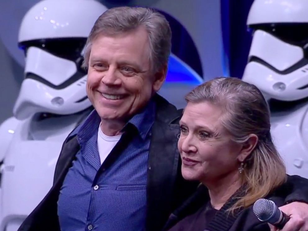 PHOTO: Mark Hamill and Carrie Fischer at the Star Wars: The Force Awakens panel discussion during Star Wars Celebration Anaheim, April 16, 2015.