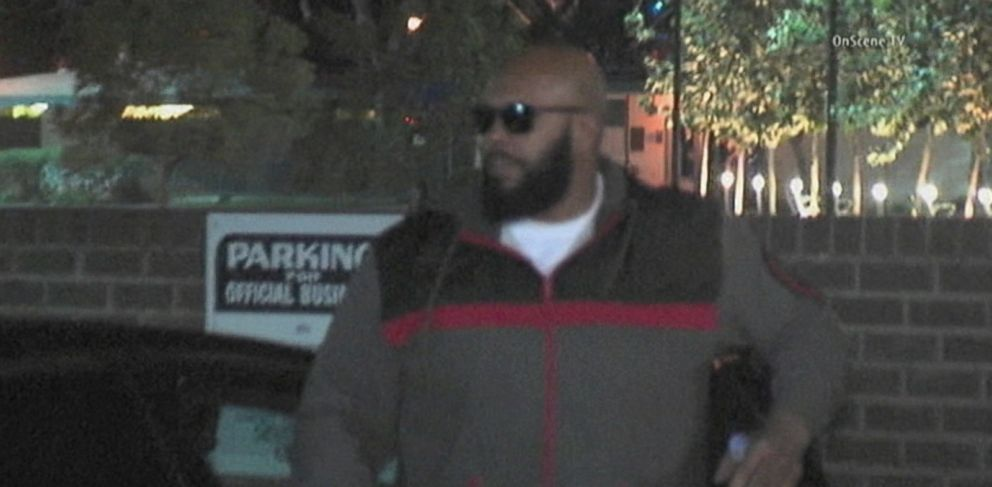 PHOTO: Suge Knight arrives at the Los Angeles Sheriffs Departments West Hollywood station for an investigation into a deadly hit-and-run crash, Jan. 30, 2015.