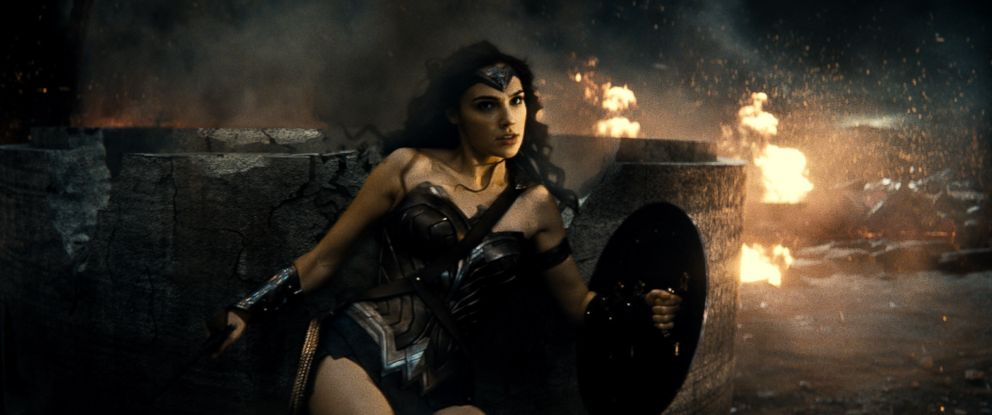 "PHOTO:Gal Gadot is seen as Wonder Woman in the action adventure ""Batman v Superman: Dawn of Justice."""