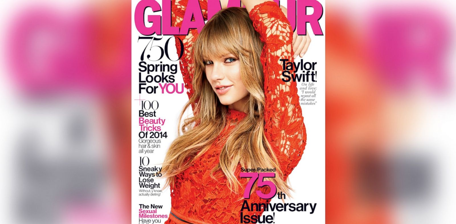 PHOTO: Taylor Swift, on the cover of the March 2014 issue of Glamour.