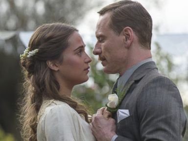 PHOTO: Michael Fassbender stars as Tom Sherbourne and Alicia Vikander as his wife Isabel in DreamWorks Pictures poignant drama The Light Between Oceans.