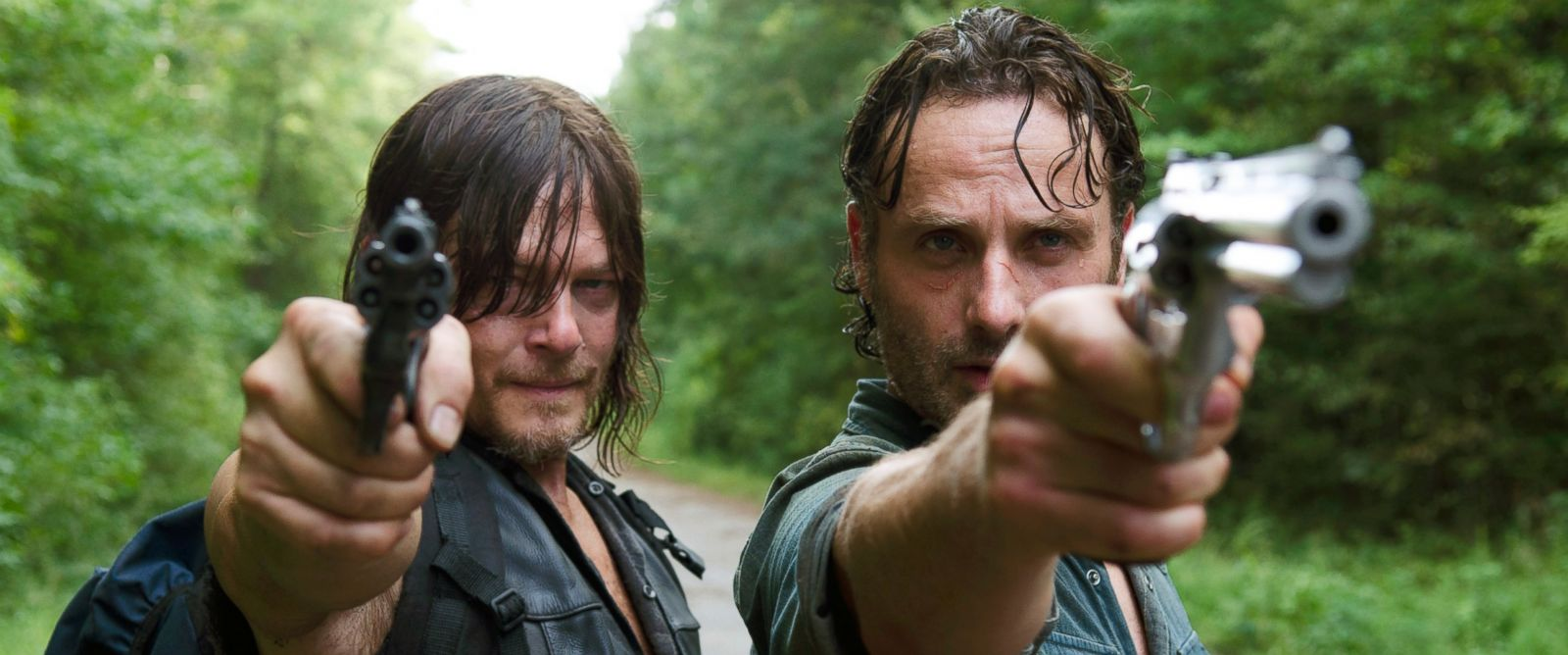 PHOTO: Andrew Lincoln and Norman Reedus are seen here in the sixth season of The Walking Dead.