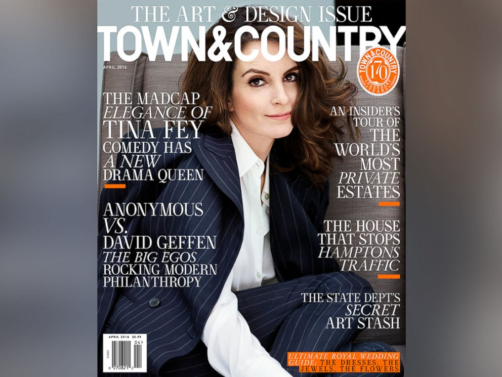 PHOTO: Tina Fey appears on the cover of Town & Country magazines April 2016 issue.