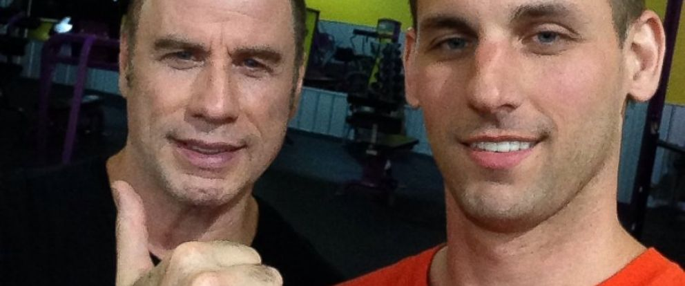 PHOTO: Justin Jones took a photo with John Travolta at the gym earlier this week.