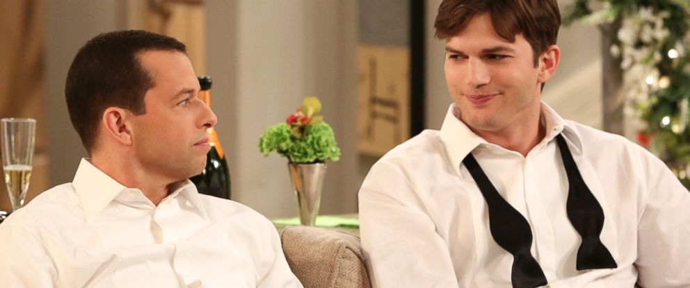 "PHOTO: Jon Cryer and Ashton Kutcher in an episode of ""Two and a Half Men"" that aired May 8, 2014."