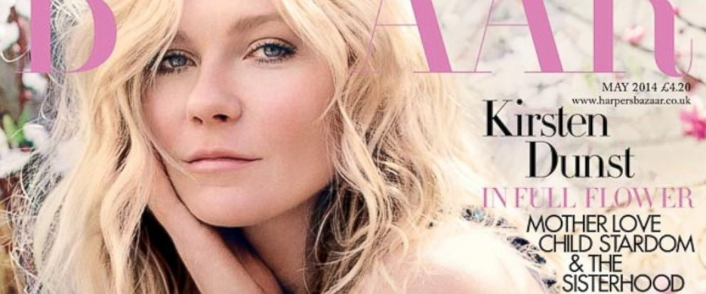 PHOTO: Kristen Dunst on the May issue of Harpers Bazaar U.K.