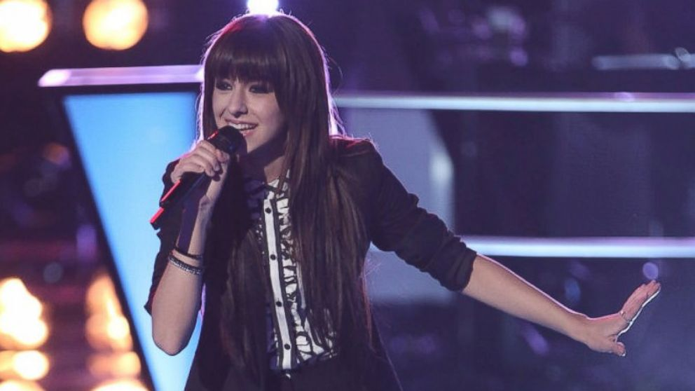 "PHOTO: Christina Grimmie performs on ""The Voice,"" March 25, 2014."