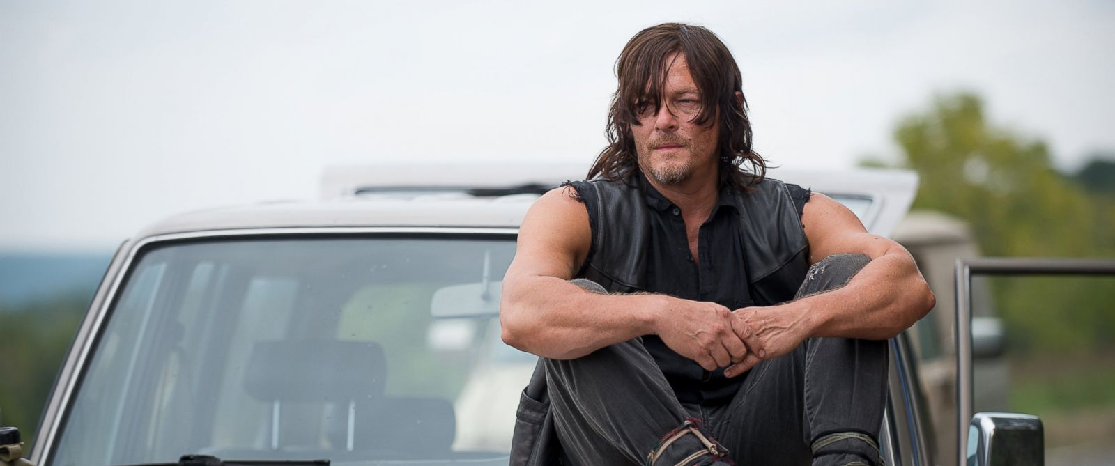 "PHOTO: Norman Reedus who plays Daryl Dixon appears in a scene from ""The Walking Dead."""