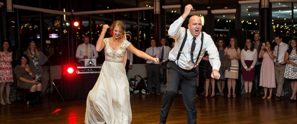 PHOTO: Mikayla Phillips and her dad, Nathan Ellison, performed a choreographed dance mash-up at Phillips Oct. 8, 2016 wedding reception near Provo, Utah.