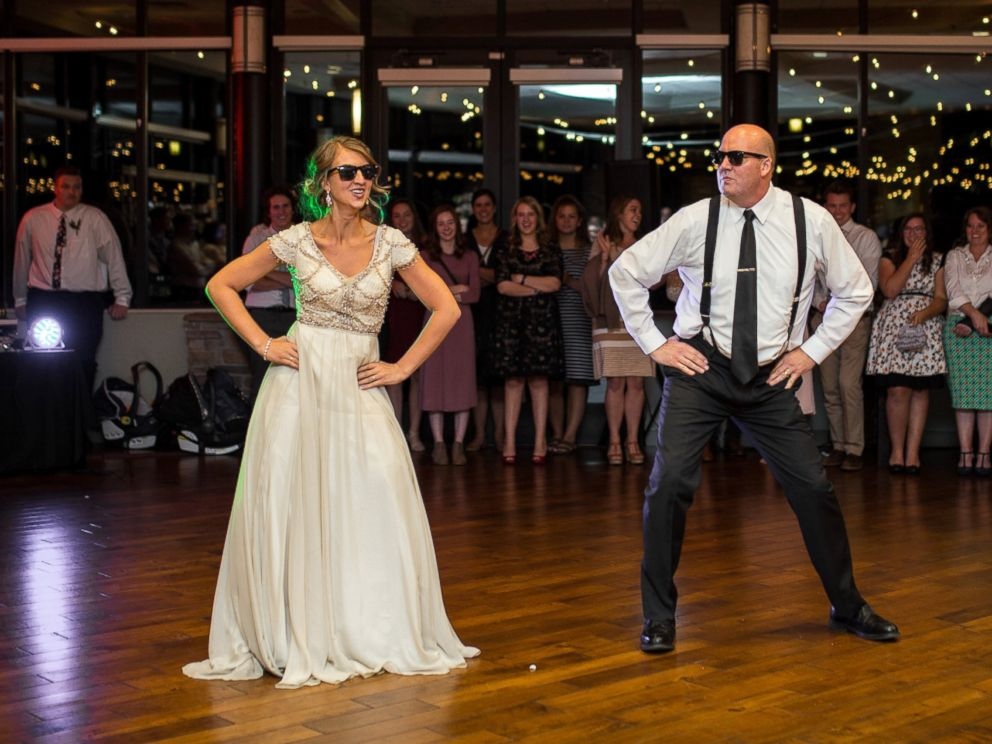 dad and daughter perform epic wedding dance mashup abc news