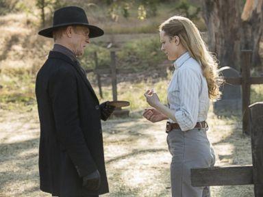 PHOTO: Ed Harris and Evan Rachel Wood in Westworld.
