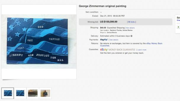 HT zimmerman painting tk 131223 16x9 608 George Zimmerman Painting Sells for $100,000
