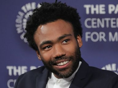 PHOTO: Donald Glover speaks onstage at the Atlanta New York Screening at The Paley Center for Media on Aug. 23, 201.