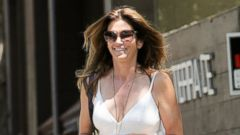 PHOTO: Cindy Crawford Steps Out in A White Sundress