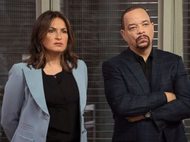 PHOTO: Mariska Hargitay as Olivia Benson and Ice-T as Odafin Tutuola in Law and Order: Special Victims Unit.