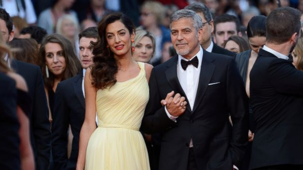 PHOTO: George Clooney and his wife Amal Clooney attending the Money Monster screening, at the Palais Des Festivals in Cannes, France, on May 12, 2016, as part of the 69th Cannes Film Festival.