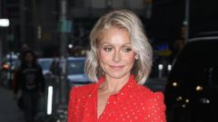 Kelly Ripa steps out in bright red