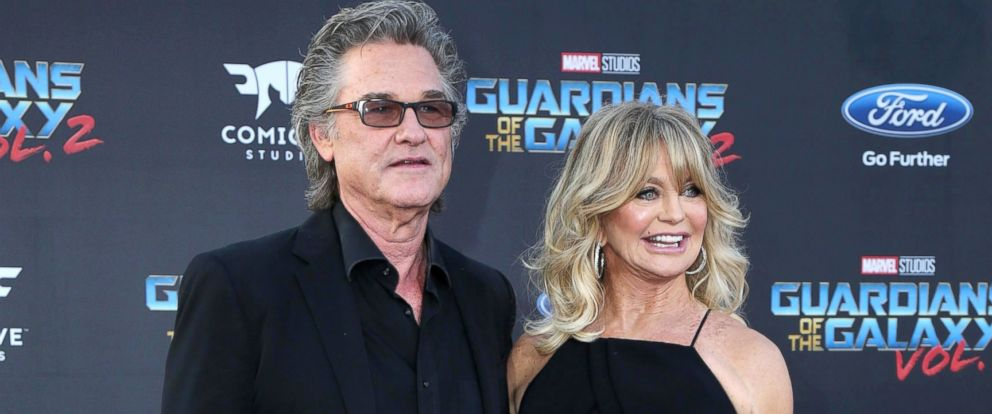 "PHOTO: Kurt Russell and Goldie Hawn attend the ""Guardians of the Galaxy Vol. 2"" Los Angeles Premiere at the Dolby Theater, April 19, 2017, in Los Angeles."