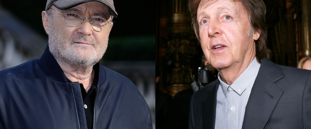 """PHOTO: Phil Collins attending a photocall to announce his """"Not Dead Yet"""" tour"""