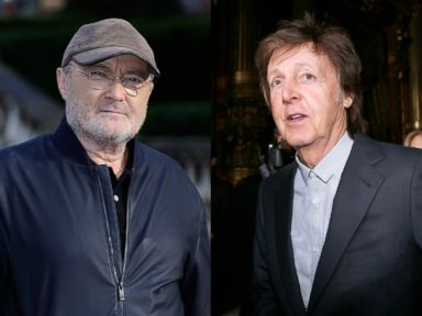PHOTO: Phil Collins attending a photocall to announce his Not Dead Yet tour, on Oct. 17, 2016 | Former Beatle member and recording artist Sir Paul McCartney attends his daughter Stella McCartneys 2016-2017 fall/winter show, on March 7, 2016, in Paris.