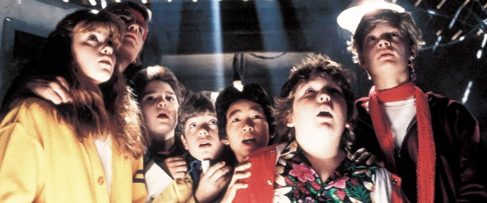 "PHOTO: The cast of ""The Goonies"" in scene from the movie."