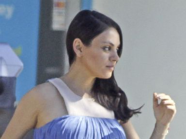 Pregnant Mila Kunis Beats the Heat in a Sundress