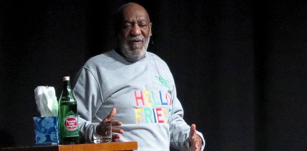 PHOTO: Bill Cosby tells stories to a crowd during his standup act at the Atlantis Resort in the Bahamas, Nov. 20, 2014.