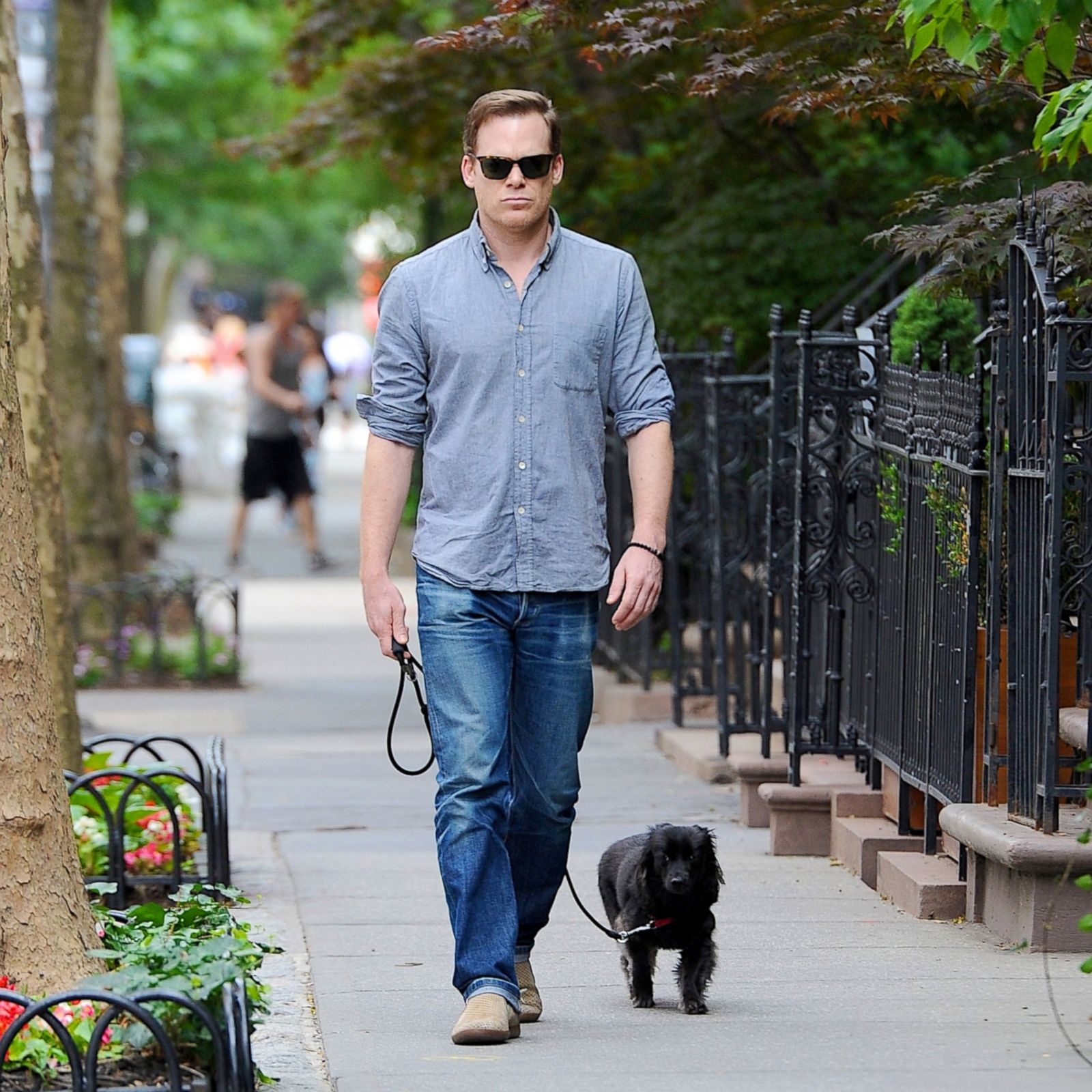 Michael C Hall Takes His Pup For A Walk Picture Celebs And Their