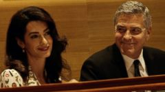Amal and George Clooney Attend the U.N. Summit