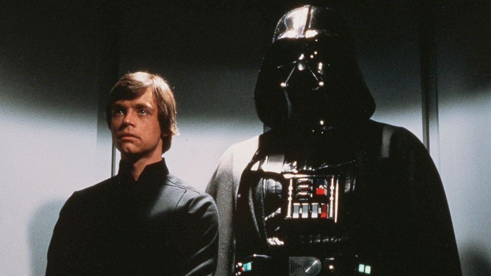 PHOTO: Luke Skywalker and Darth Vader are shown in a scene from the film