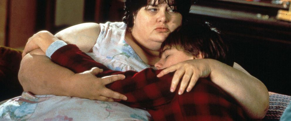 "PHOTO: Darlene Cates and Leonardo Dicaprio in the film, ""Whats Eating Gilbert Grape,"" 1993."