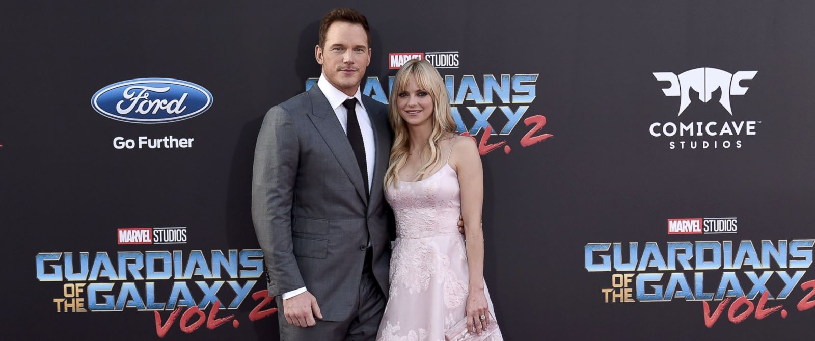 "PHOTO: Chris Pratt and Anna Faris arrive at the ""Guardians of the Galaxy Vol. 2"" film premiere, April 19, 2017, in Los Angeles."