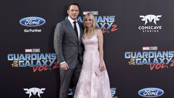 PHOTO: Chris Pratt and Anna Faris arrive at the