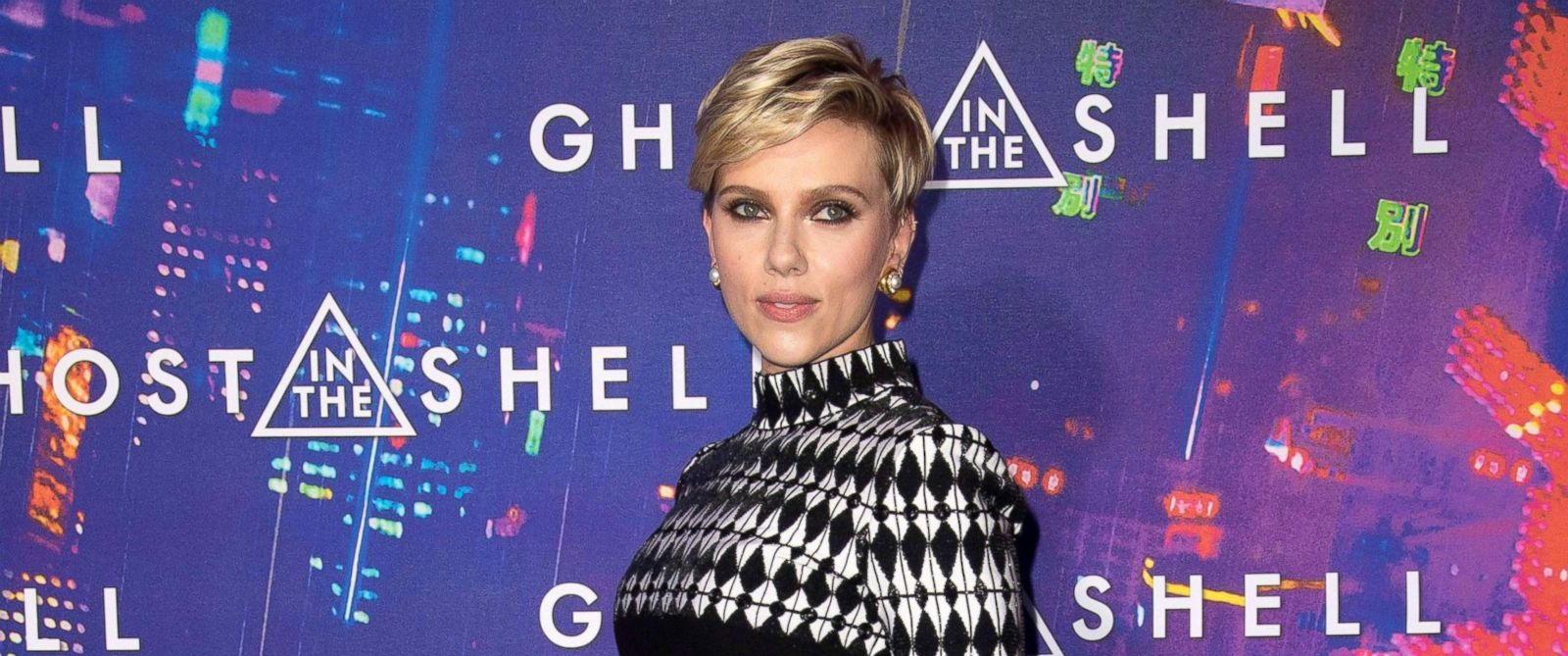 "PHOTO: Scarlett Johansson attends the ""Ghost in the Shell"" film premiere, on March 21. 2017, in Paris."