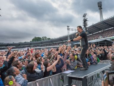 PHOTO: Bruce Springsteen and The E Street Band in concert at Ullevi Stadium, Gothenburg, Sweden.