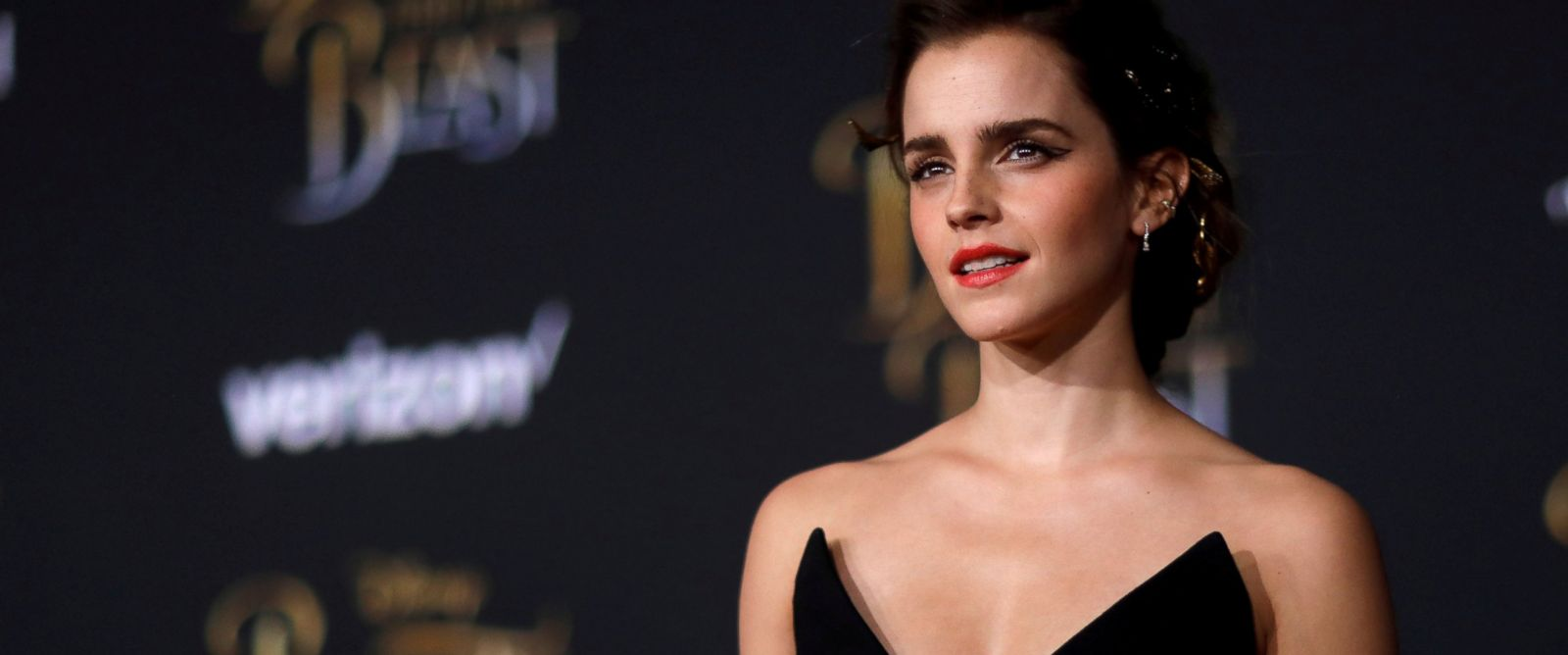 """PHOTO: Emma Watson poses at the premiere of """"Beauty and the Beast"""" in Los Angeles, March 2, 2017."""