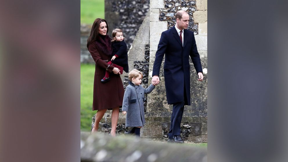 royal family heads to christmas church service without the queen