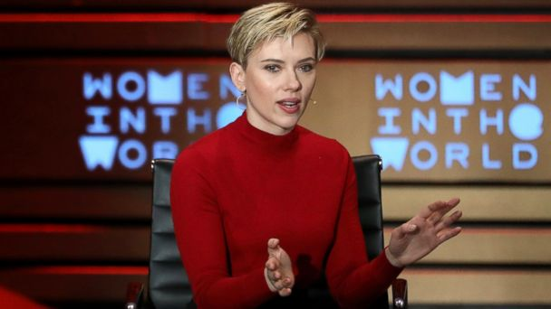 PHOTO: Scarlett Johansson speaks during the Women in the World summit at the David H. Koch Theater at Lincoln Center in New York City, April 6, 2017.