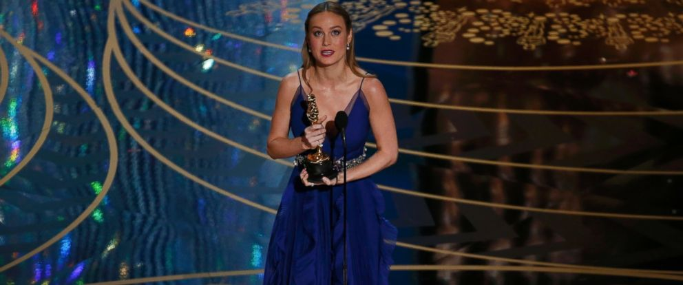 "PHOTO:Brie Larson accepts the Oscar for Best Actress for her role in ""Room"" at the 88th Academy Awards in Hollywood, Calif., Feb. 28, 2016."