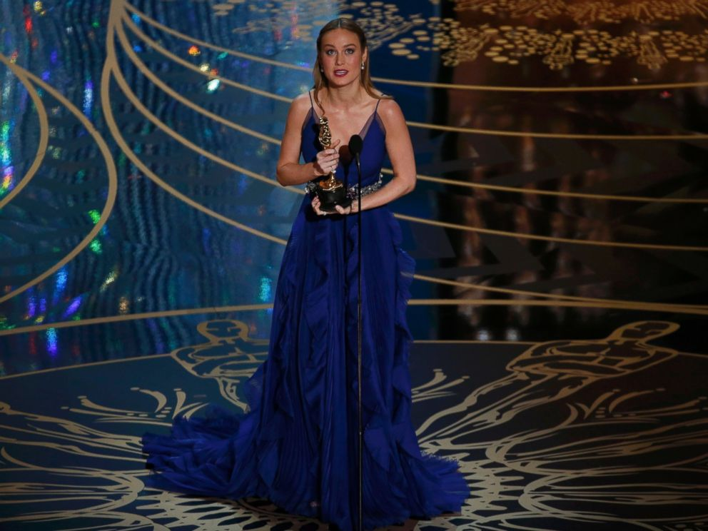 PHOTO:Brie Larson accepts the Oscar for Best Actress for her role in Room at the 88th Academy Awards in Hollywood, Calif., Feb. 28, 2016.