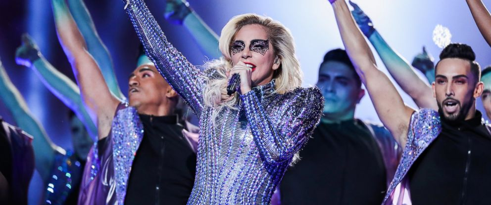 PHOTO: Lady Gaga performs during the Super Bowl LI Halftime Show held at NRG Stadium, Feb. 5, 2017, in Houston.