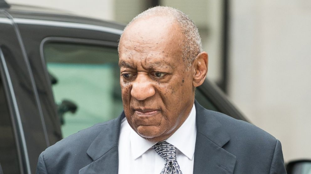 PHOTO: Bill Cosby arrives at court for his continued sexual assault case trial, June 15, 2017, in Norristown, Penn.