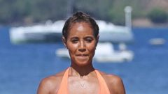 Jada Pinkett-Smith Hits the Beach in a Neon Bikini
