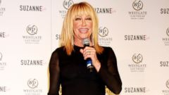 Suzanne Somers Stuns in a Little Black Dress
