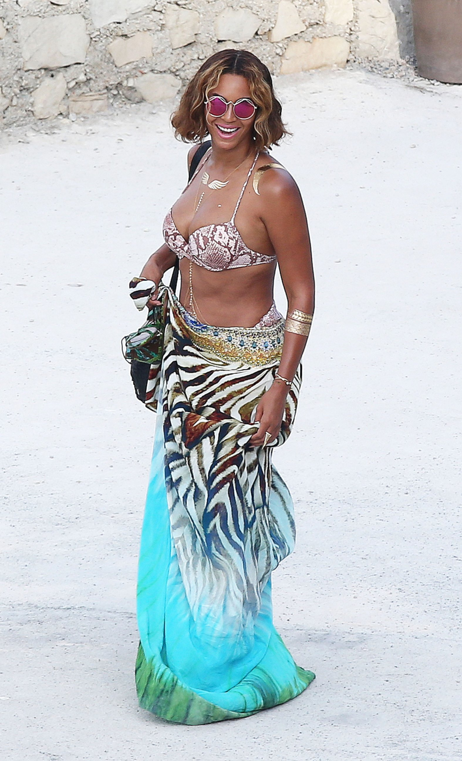 Beyonce Looks Sasha Fierce on the Beach