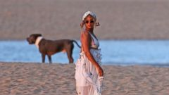 Beyonce Takes in the Sunset