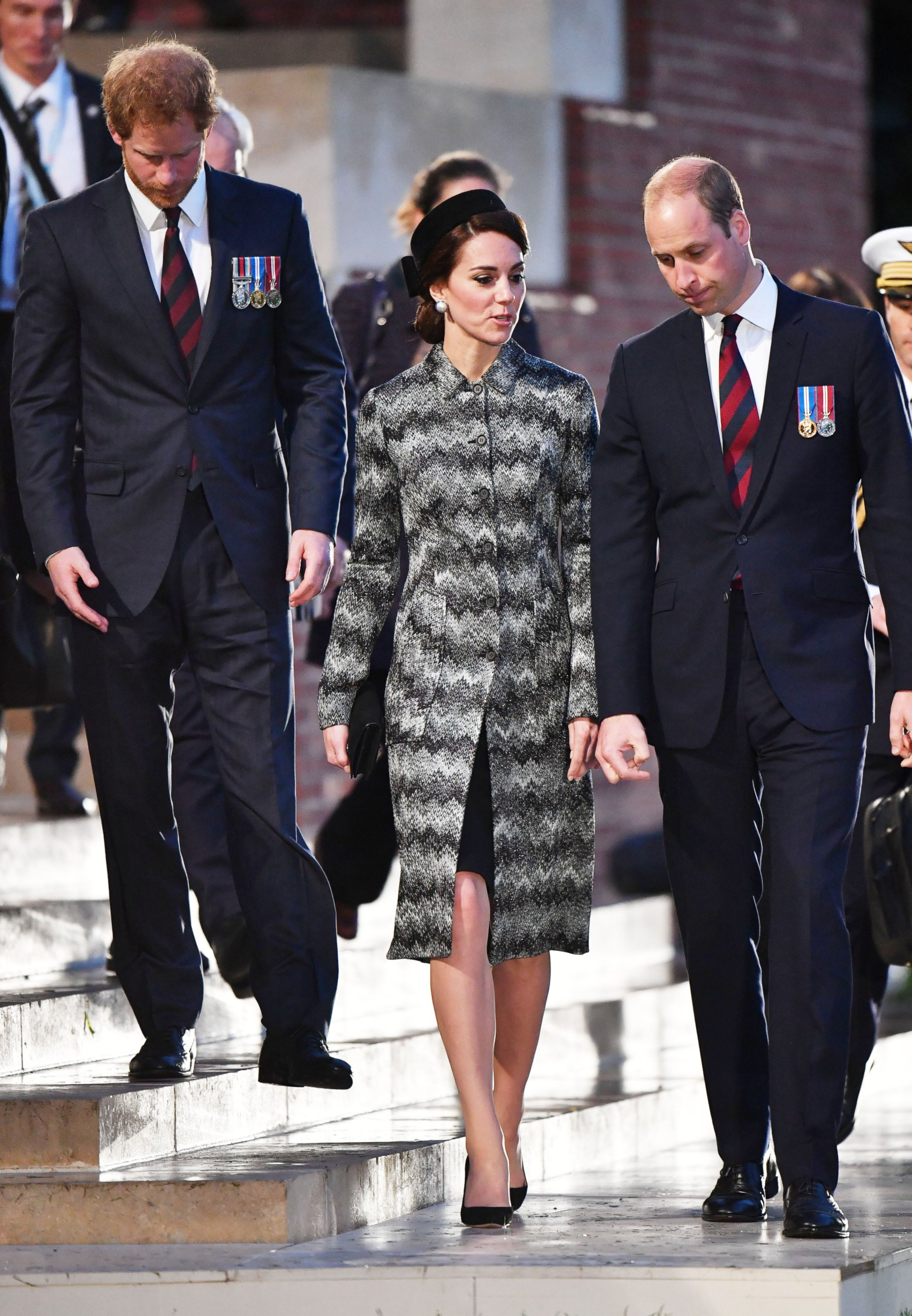Duchess Kate Attends a Vigil With Prince William and Prince Harry