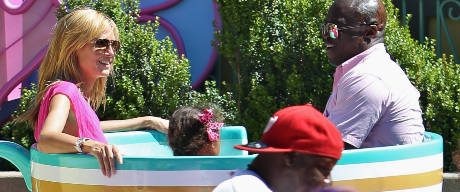 PHOTO: Heidi Klum and Seal spend the day at Disneyland in Anaheim, Calif. with the children, May 28, 2014.
